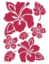 "Трафарет пластиковый KSG064 ""Цветок гибискус"", 21х29,7 см, Stamperia (Италия)"