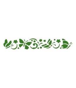 "Трафарет объемный KSPB02 ""Бабочки"", толщина 2 мм, 38x7,5 см, Stamperia"