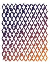 "Трафарет объемный KSTD006 ""Ромбы"", толщина 0,5 мм, размер 20х25 см, Stamperia"