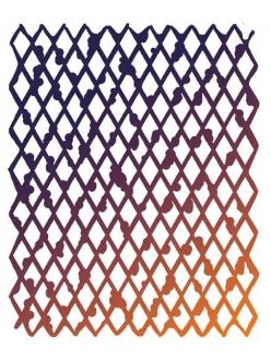 Трафарет объемный Ромбы, толщина 0,5 мм, размер 20х25 см, Stamperia KSTD006