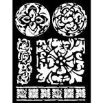 """Трафарет объемный KSTD027 """"Текстура майолики"""", толщина 0,5 мм, 20х25 см, Stamperia"""