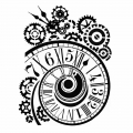 "Трафарет объемный ""Часы спиральные"", толщина 0,5 мм, 20х25 см, Stamperia KSTD033"