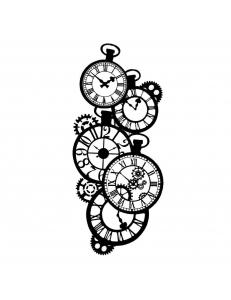 "Трафарет объемный ""Часы"", толщина 0,25 мм, 12х25 см, Stamperia KSTDL01"