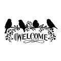 "Трафарет объемный ""Welcome"", толщина 0,25 мм, 12х25 см, Stamperia KSTDL04"