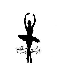 """Трафарет объемный """"Балерина"""", толщина 0,25 мм, 12х25 см, Stamperia KSTDL05"""