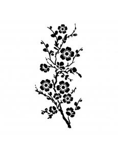 "Трафарет объемный ""Цветы персика"", толщина 0,25 мм, 12х25 см, Stamperia KSTDL08"