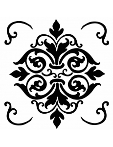 "Трафарет объемный ""Орнамент"", толщина 0,5 мм, 18х18 см, Stamperia KSTDQ07"
