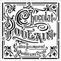 """Трафарет объемный """"Chocolate"""", толщина 0,5 мм, 18х18 см, Stamperia KSTDQ12"""