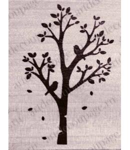 """Штамп резиновый """"Дерево"""" WВ01A3, 4,5х6 см"""