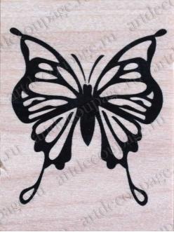 Штамп резиновый Тропическая бабочка WВ09A3, 4,5х6 см