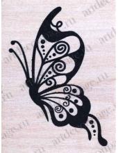 """Штамп резиновый """"Большая бабочка"""" WВ10A3, 4,5х6 см"""