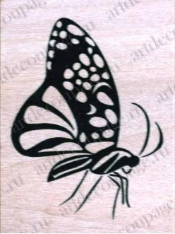 Штамп резиновый Мотылек WВ11A3, 4,5х6 см