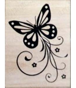 """Штамп резиновый """"Бабочка"""" WВ12A3, 4,5х6 см"""