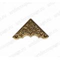 Декоративый уголок для шкатулок 37х37х11 мм, цвет античная бронза, 4 штуки