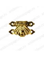 Замочек для шкатулки 19х30 мм, цвет золото