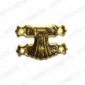 Замок для шкатулок 25х37 мм, цвет золото