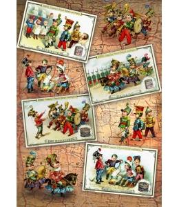 """Декупажная карта Vintage Design S-174 """"Игра в солдатиков"""", А4, 40 г/м2"""