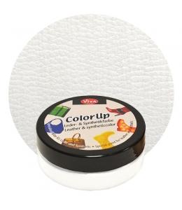 Краска для кожи и синтетики Color up Белый 50мл, Viva Decor Германия