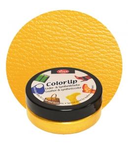 Краска для кожи и синтетики Color up Желтый 50мл, Viva Decor Германия