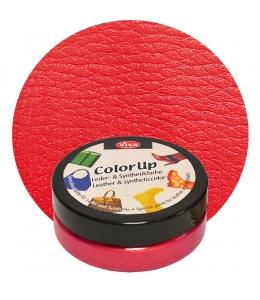 Краска для кожи и синтетики Color up Красный 50мл, Viva Decor Германия