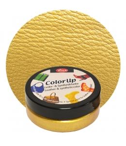 Краска для кожи и синтетики Color up Золото 50мл, Viva Decor Германия