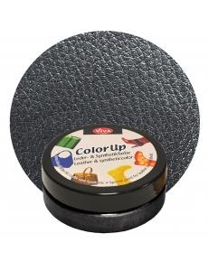 Краска для кожи и синтетики Color up Антрацит металлик 50мл, Viva Decor Германия