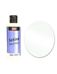 Краска с эффектом матового стекла Matt Glass Viva Decor, цвет 101 белый, 82 мл