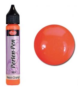 Краска для создания жемчужин Viva Perlen Pen neon, цвет 951 неон оранжевый, 25 мл