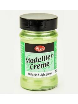 Моделирующий крем-паста Viva Decor Modellier Creme, цвет 702 перламутровый светло-зеленый