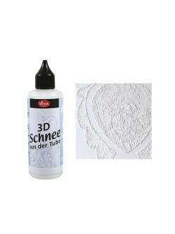 Паста структурная с эффектом снега 3D Schnee, 82 мл, Viva Decor
