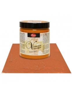 Краска-паста с эффектом венецианской штукатурки Venezia 452 терракотовый, 250 мл, Viva Decor