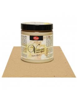 Краска-паста с эффектом венецианской штукатурки Venezia 453 сепия, 250 мл, Viva Decor