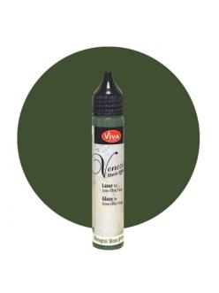 Глазурь для краски-пасты с эффектом венецианской штукатурки Venezia Lasur 702 зеленый, 28 мл, Viva Decor