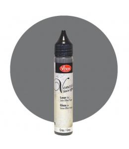 Глазурь для краски-пасты с эффектом венецианской штукатурки Viva-Venezia-Lasur 800 серый, 28 мл