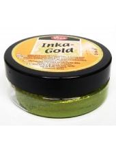 Краска-паста металлик Inka-Gold 906 желто-зеленый, 50 г, Viva Decor (Германия)