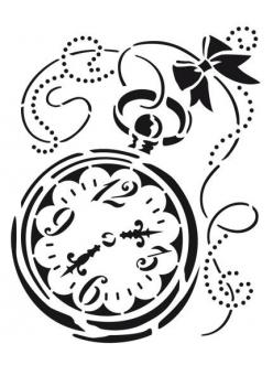 Трафарет для росписи Часы, 21х29,7 см, Viva Decor