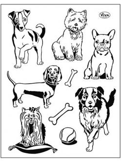 Штампы силиконовые Viva Decor Silikon Stempel Собаки, 14х18 см