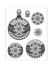 """Штампы силиконовые Viva-Silikon-Stempel D32 """"Новогодний шарик"""" для 3D изображений, 14х18 см"""