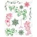 Штампы для скрапбукинга Viva Silikon Stempel D71 Звезды, новогодние носки, Viva Decor Silikon Stempel D71, купить