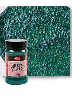 Паста объемная с блестками Viva Glitter Paste, цвет 700 изумруд, 90 мл