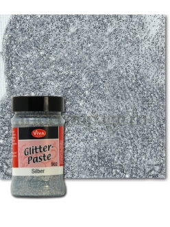 Паста объемная с блестками Viva Glitter Paste, цвет 902 серебро, 90 мл