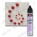 Краска для создания жемчужин Viva Perlen Pen, цвет 400 красный, 25 мл