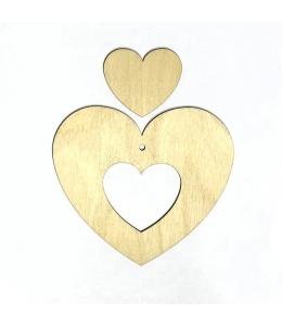 Декоративная плоская фигурка Сердце 1, 10х10 см, фанера, Woodbox