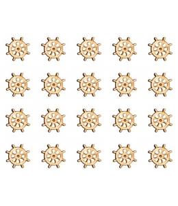"""Декоративные плоские фигурки из фанеры, набор """"Штурвал"""", 15 мм, 20 шт"""