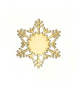 Заготовка фигурка Снежинка КСФ-С-8-05, фанера, 5 см