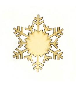 Заготовка фигурка Снежинка КСФ-С-8-08, фанера, 8см