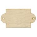Заготовка Бирка прямоугольная с двумя отверстиями, фанера, 20х10,8 см, Woodbox