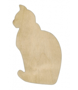 Заготовка фигурка Кошка, фанера, 15х9 см, Woodbox