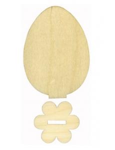 "Декоративная фигурка ""Яйцо на подставке"", фанера, 10 см"