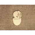 Декоративная плоская фигурка Цыпленок в скорлупе, фанера, 5 см, Россия